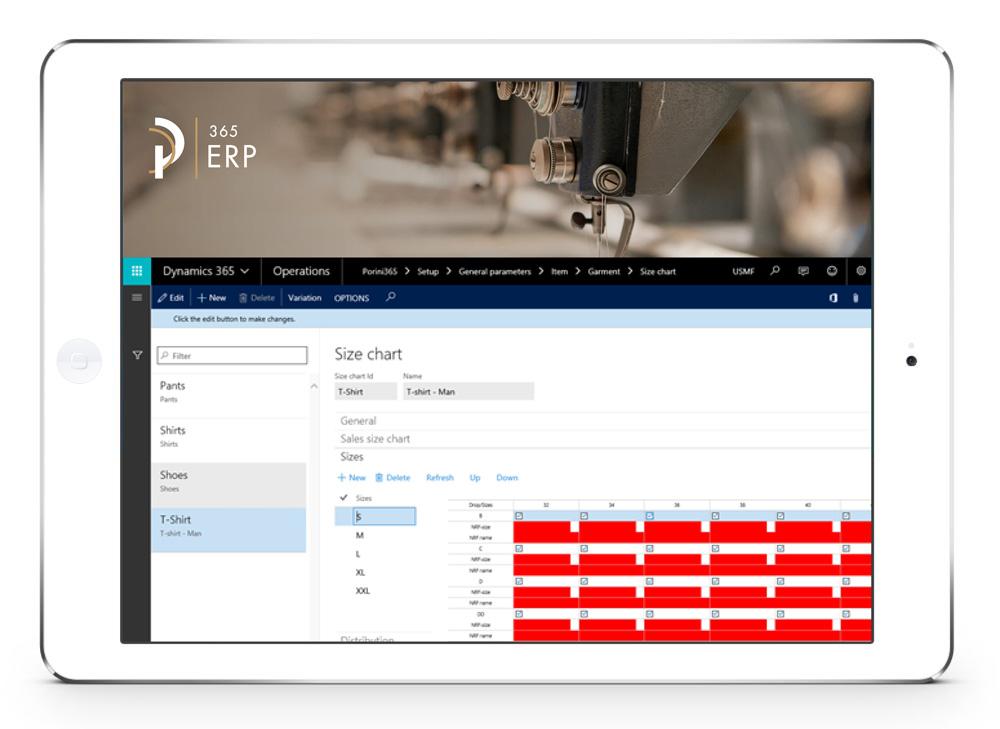 Tablet ERP Apparel