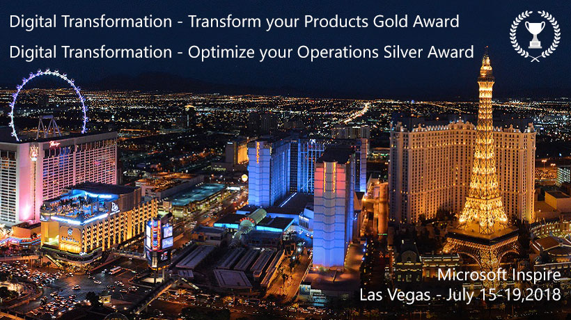 "During the Microsoft Inspire Italian Partners Ceremony at Mandalay Bay Convention Center in Las Vegas, PORINI received the ""Digital Transformation - Optimize your Operations"" Silver Award and the ""Digital Transformation - Transform your Products"" Gold Award."