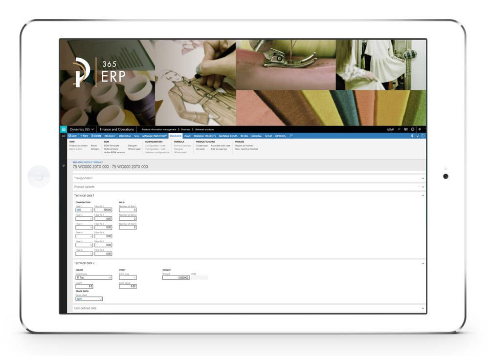 Tablet ERP PLM-MES