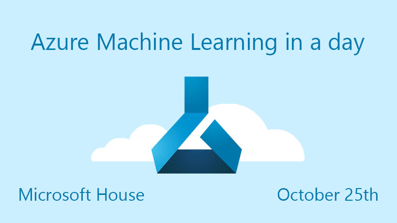 Azure Machine learning in a day - On this training day, we will introduce the Machine Learning and Azure Machine Learning Studio through guided workshops.