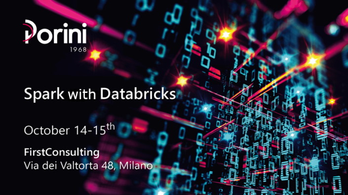 Spark with databricks Course by porini education, 14-15th October milan
