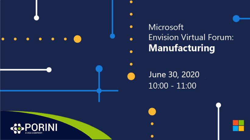 Microsoft Envision Virtual Forum: Manufacturing